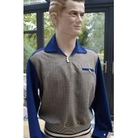 Royal Blue/Grey Check - Gaucho Shirt