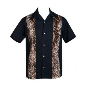 Steady Clothing - Black/Leopard Panel Shirt