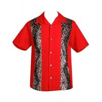 Steady Clothing - Red/Leopard Panel Shirt